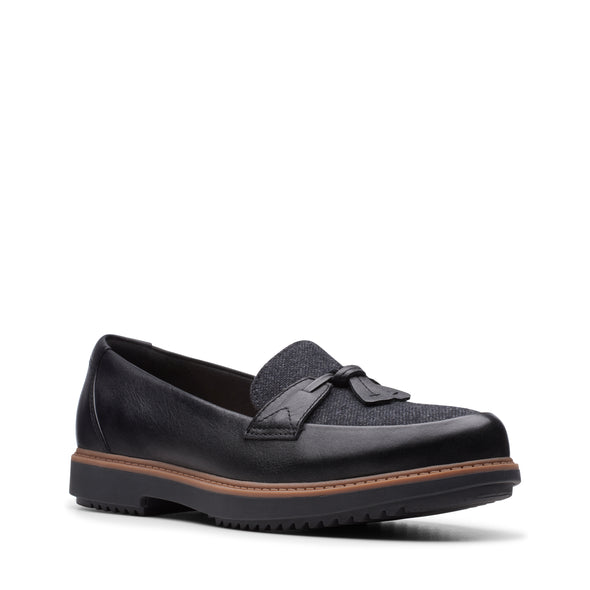 Clarks Raisie Foster Black Leather