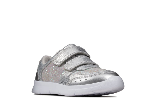 Clarks Ath Sonar T Silver Leather