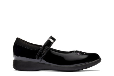 Clarks Etch Bright K Black Pat
