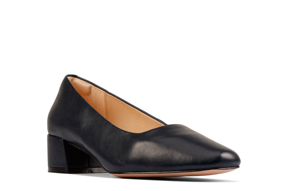 Clarks Sheer35 Court2 Navy Leather