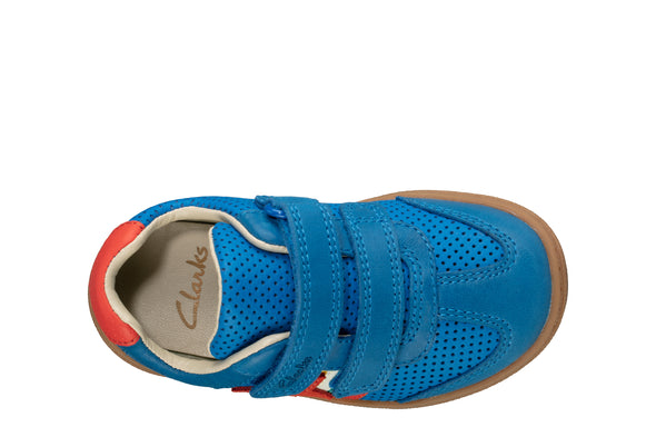Clarks Flash Hot T Blue Leather