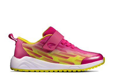Clarks Aeon Pace Youth Pink/Lime