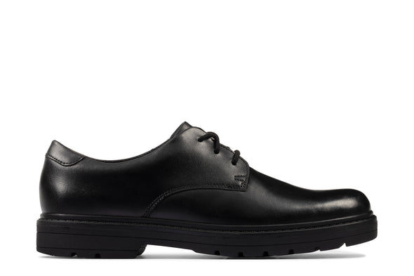 Clarks LoxhamDerby Y Black Leather