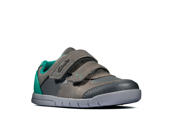 Clarks Rex Quest T Dark Grey Lea
