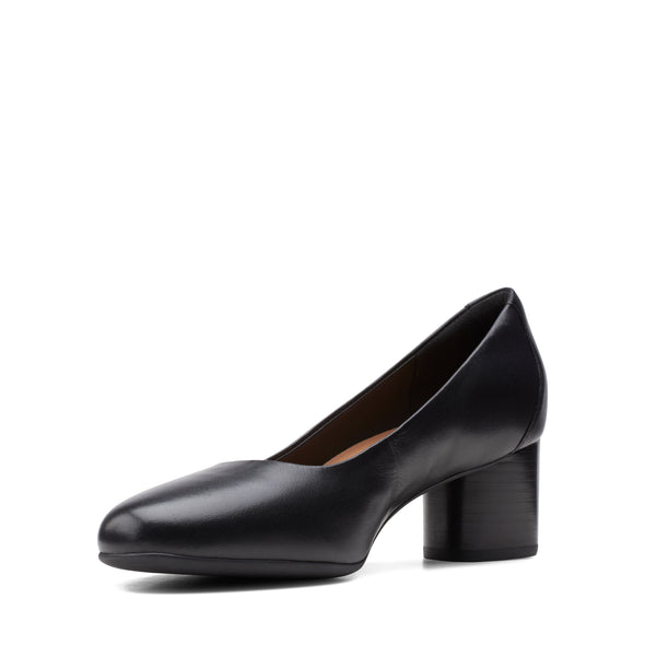Clarks Un Cosmo Dress Black Leather