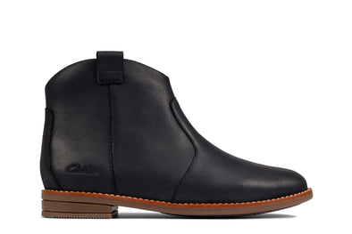 Clarks Drew North K Navy Leather