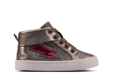 Clarks City Myth T Pewter Leather
