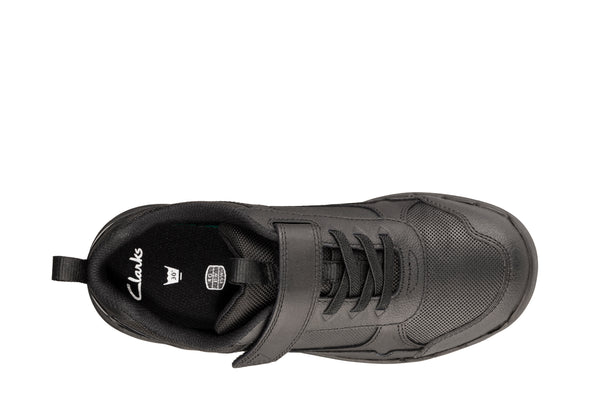 Clarks Orbit Sprint Y Black Leather
