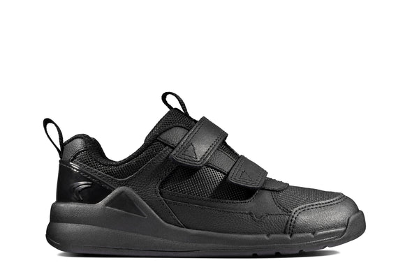 Clarks Orbit Sprint K Black Leather