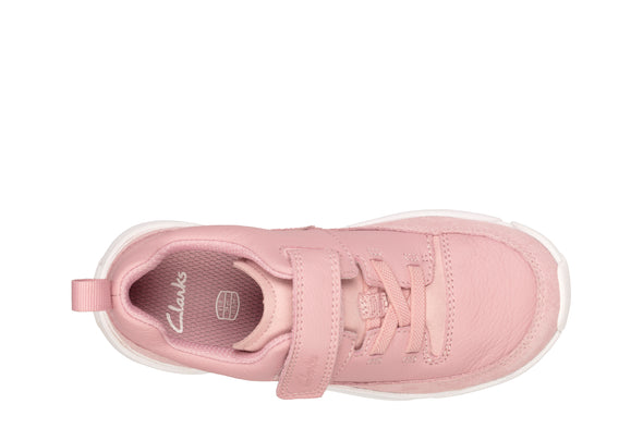 Clarks Tri Craft K Pink Leather