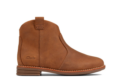 Clarks Drew North T Tan Leather