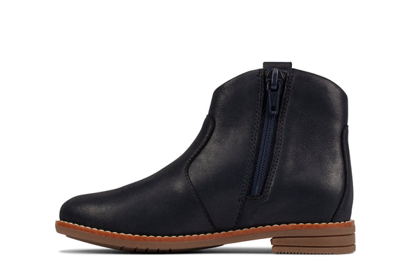 Clarks Drew North T Navy Leather