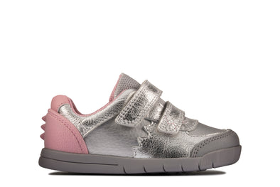 Clarks Rex Quest T Silver Leather