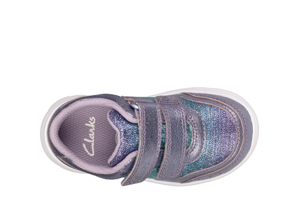 Clarks Ath Sonar T Lilac Leather