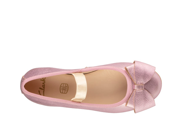 Clarks Dance Bow K Pink Leather