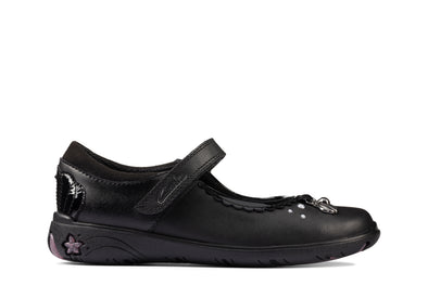 Clarks Sea Shimmer K Black Leather