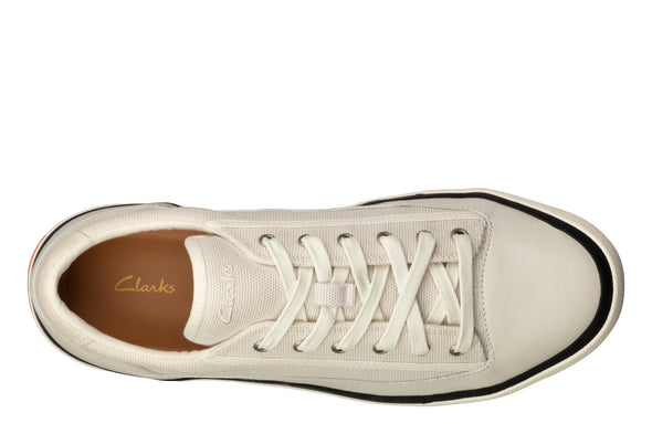 Clarks Aceley Lace White Canvas W