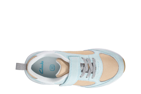 Clarks Aeon Flex K Light Blue Comb