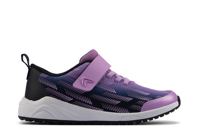 Clarks Aeon Pace Youth Purple