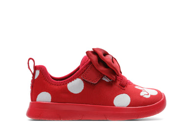 Clarks Ath Bow T Red Combi