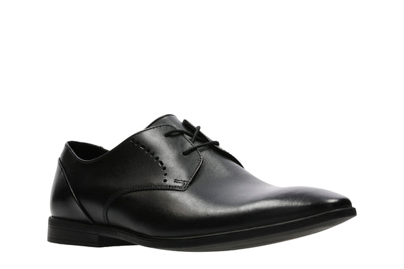 Clarks Bampton Lace Black Leather G