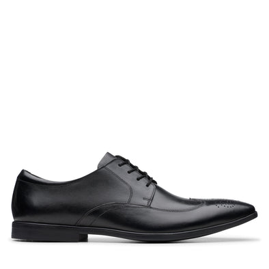 Clarks Bampton Wing Black Leather