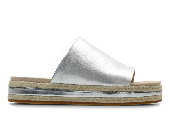 Clarks Botanic Iris Silver Leather