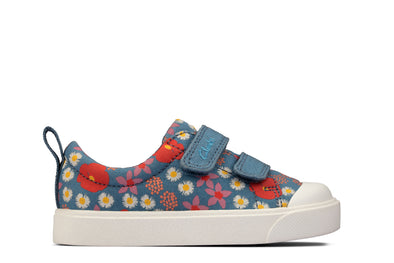 Clarks City Bright T Blue Floral
