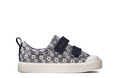 Clarks City Bright T Navy Floral