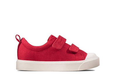 Clarks City Bright T Red Canvas
