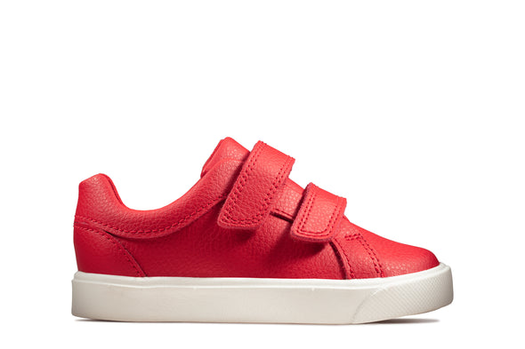Clarks City OasisLo T Red Leather