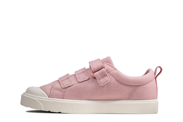 Clarks City Vibe K Pink Canvas