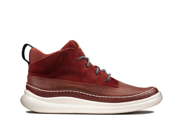 Clarks Cloud Air K Burgundy Leathe