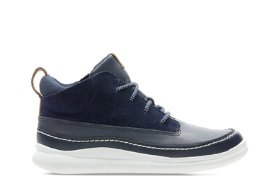 Clarks Cloud Air K Navy Leather