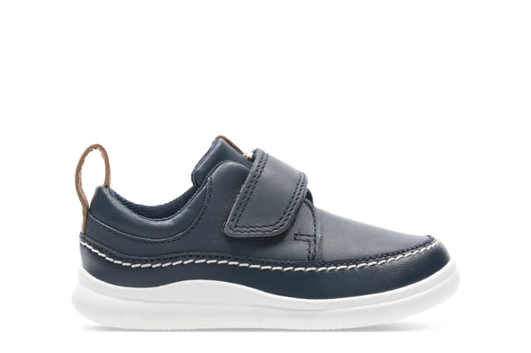 Clarks Cloud Ember T Navy Leather