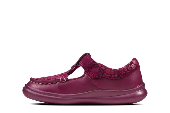Clarks Crest Rosa T Berry Leather