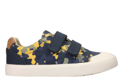 Clarks Comic Air Navy Camo