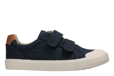 Clarks Comic Air Navy Canvas