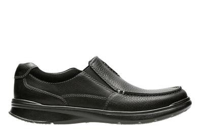 Clarks Cotrell Free Black Oily Lea