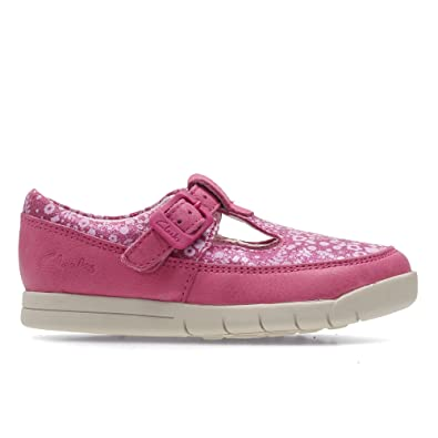 Clarks Crazy Tale Fst Hot Pink Leathe