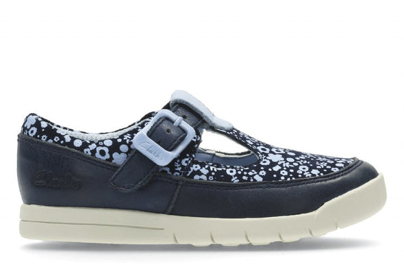 Clarks Crazy Tale Fst Navy Leather