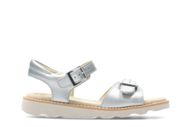 Clarks Crown Bloom K Silver Leather