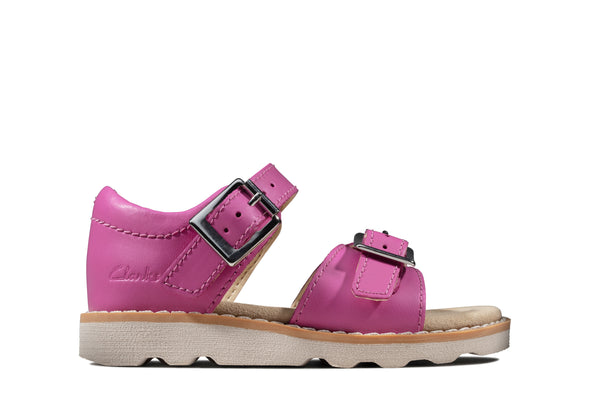 Clarks Crown Bloom T Hot Pink Leathe