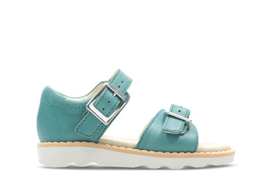 Clarks Crown Bloom T Teal Leather