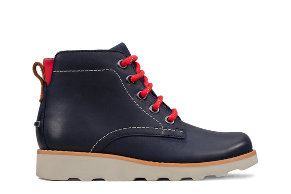Clarks Crown Hike K Navy Leather