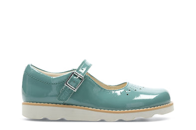 Clarks Crown Jump K Teal Leather