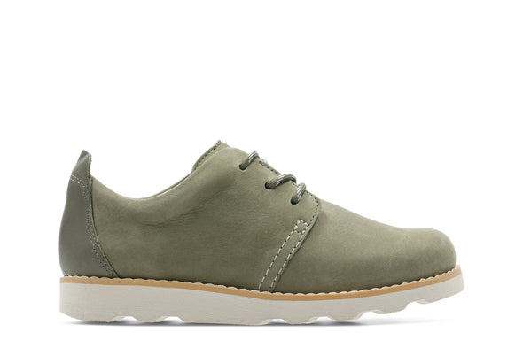 Clarks Crown Park K Khaki Leather