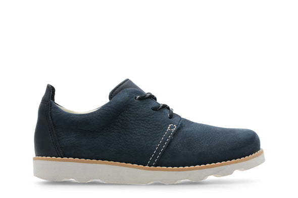 Clarks Crown Park K Navy Leather