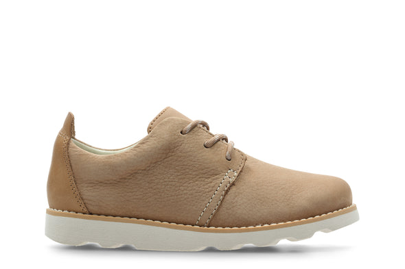 Clarks Crown Park K Tan Leather