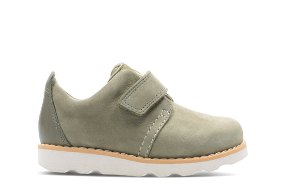 Clarks Crown Park T Khaki Leather